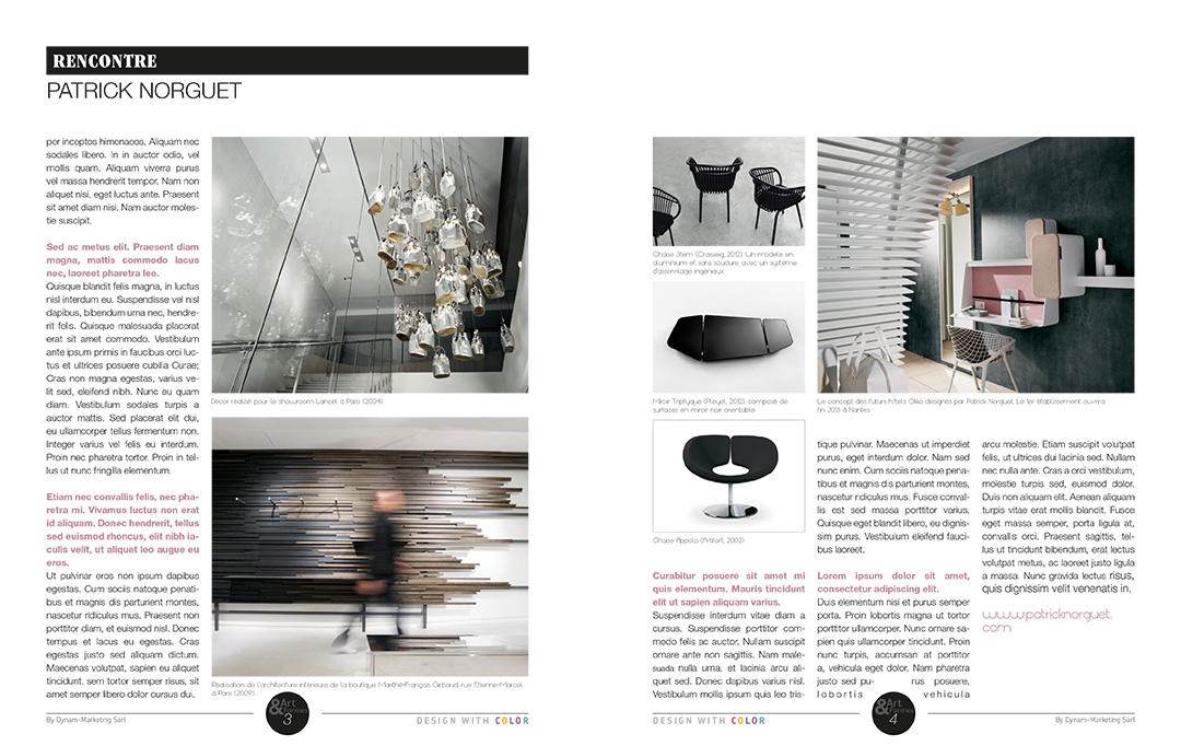 Projet de magazine – pages Rencontre