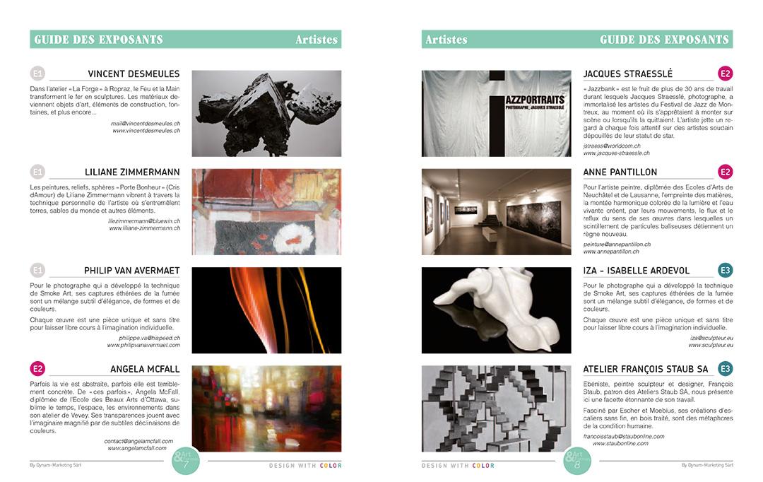Projet de magazine – pages Guide Artistes