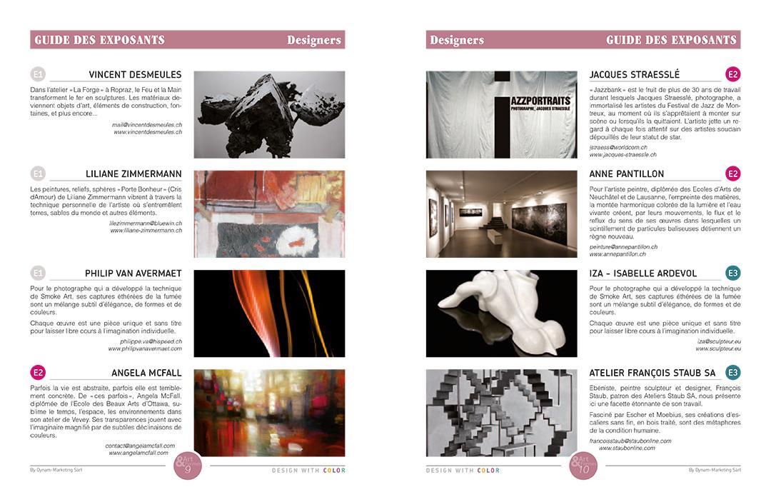 Projet de magazine – pages Guide Designers