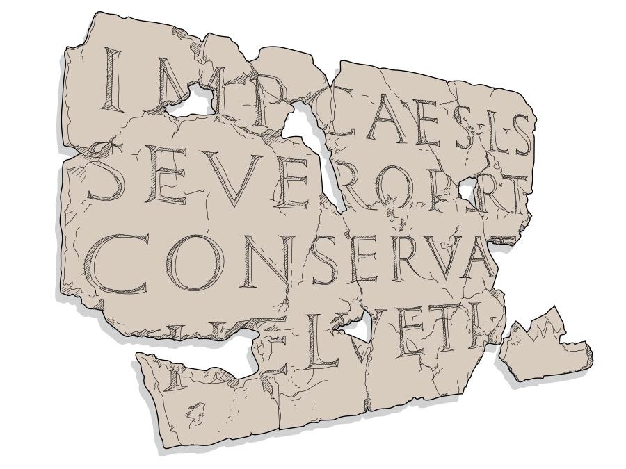 Musée romain – Inscription sur tablette