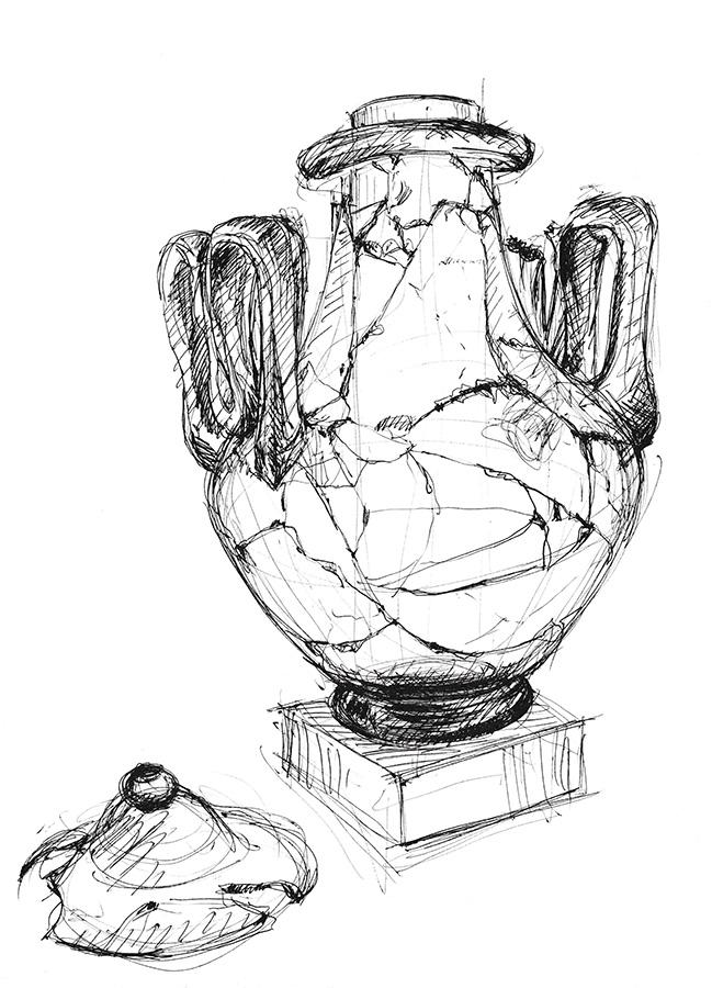 Musée romain – Vase reconsitué